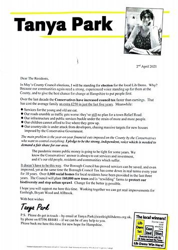 Tanya's Letter